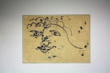 17. Hoffnung , Monotype 28 x 32 cm  (unverkäuflich)