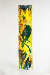5. Krähe, Holzschnitt 44 x 11 cm