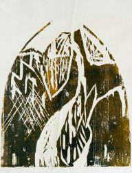 3. Lichtberg, Holzschnitt 30 x 28 cm