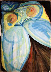 11. Kosmisch Weiblich, Aquarell, Gouache, 90 x 62 cm